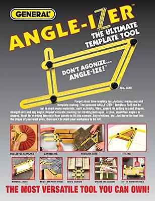 Angle-Izer Ultimate Tile & Flooring Template Tool Multi-Angle Ruler BH