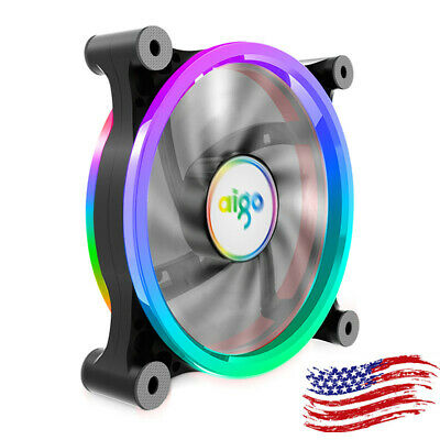 3 PCS aigo PC Case Cooling Fan Computer Cooler Radiator RGB 120mm US for Dell HP