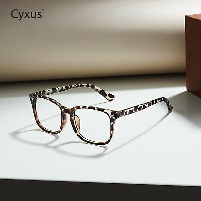 Cyxus Blue Light UV Blocking Computer Glasses Relieve Eye Fatigue Leopard Print