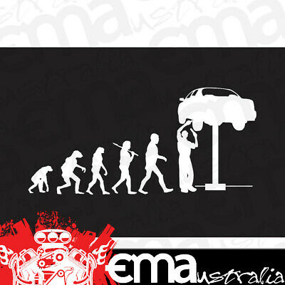 "FOI-EVOLUTION Evolution of the Mechanic Steel Sign 22.5"" x 11"""
