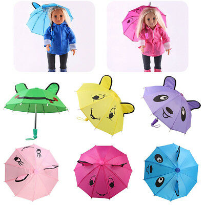 Handmade Colorful Umbrella For 18 inch American Girl Our Generation Doll Clothes