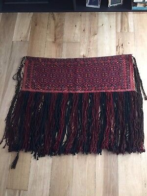 Afghan antique wall hanging with tassles