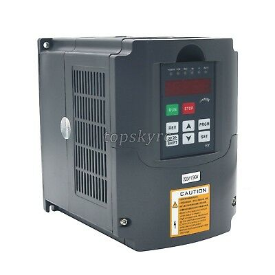 HuanYang 1.5KW 220V 2HP 7A VARIABLE FREQUENCY DRIVE INVERTER VFD 48-63HZ 3 phase
