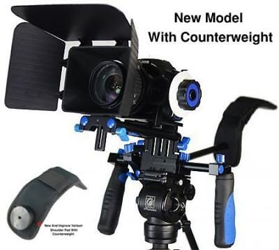 Morros DSLR Rig Movie Kit Shoulder Mount with Follow Focus and Matte Box for...