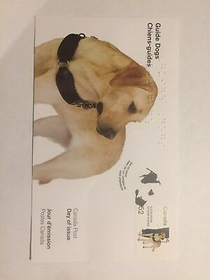 Canada Post Guide Dog First Day Cover FDC, Unaddressed, Excellent Condition