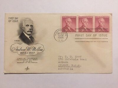 United States 1955 Andrew W. Mellon First Day Cover FDC