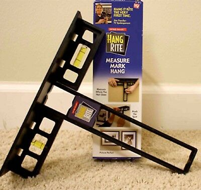 Hang Rite Picture Hanging Leveling Tool Home Decor Flooring AS SEEN ON TV