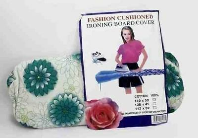 Ironing Board Cover With Clip & Fasteners Tight Fit Washable Cotton String