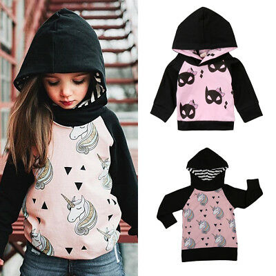 AU Stock Kids Baby Girl Toddler Outwear Coat Autumn Winter Jacket Clothes 0-5Y