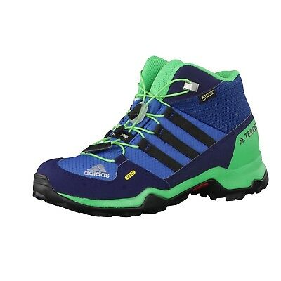 (3 UK, Blue (Core Blue/core Black/energy Green)) - adidas Unisex Kids' Terrex