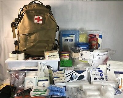 Emergency!! First Aid!!! Camping!! Prep Fully Stocked Prepacked  Bag TAN