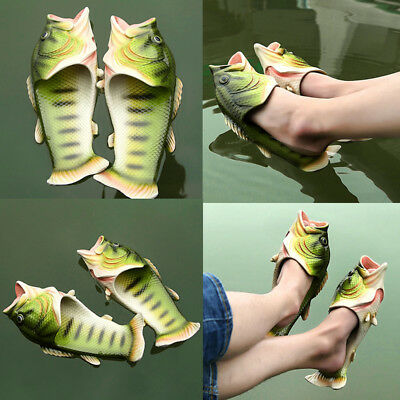 Simulation Fish Slippers Creative Style Beach Shoes Women Men Kid Sandals Tricky