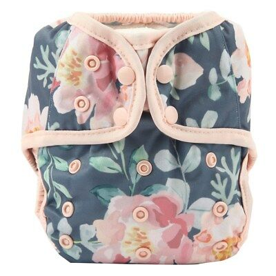 Baby Diaper Cover Nappy Cover Double Gussets Reusable One Size For Girls Floral