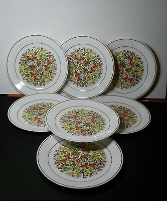Corelle Indian Summer Dinner Plates Set of 7 pcs Lot Retired Pattern