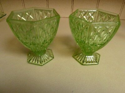 4 x pieces of  green glass