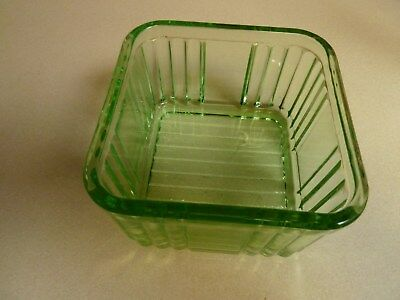 green glass  one pound with no lid  & two pound butter dish with lid