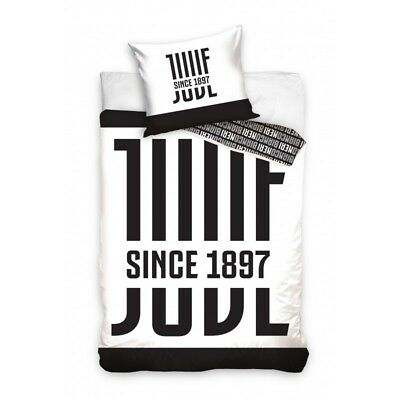 Set Letto Ufficiale JUVENTUS Juve SINCE 1897 Copripiumino Cotone BED DUVET COVER