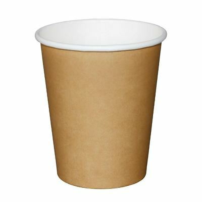 Olympia Disposable Brown Hot Cups Paper Drinks Party Kitchen Restaurant Catering