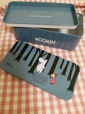 Moomin Characters Moomin Little My Metal box Container Blue