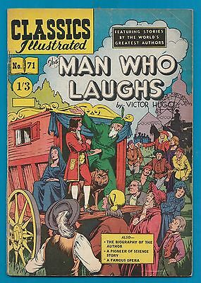 Classics Illustrated Comic # 71 The Man Who Laughs   #900