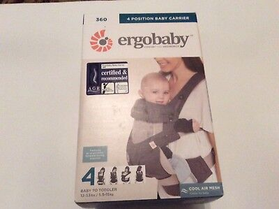 Ergobaby 360 4 Position Ergonomic Baby Carrier in Carbon  Grey Brand New