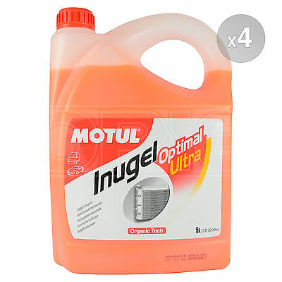Motul Inugel Optimal Ultra Concentrated Coolant & Anti Freeze - 4 x 5 Litres 20L