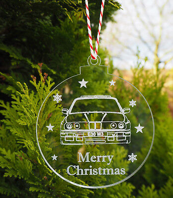BMW E30 3 Series M3 M Sport Personalised Christmas Tree Bauble Decoration Gift