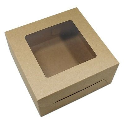 "(10 pcs, Brown) - 16x16x7.5cm (6.2""x6.2""x2.9"") Kraft Paper Packaging Boxes for"