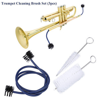 3 In 1 Trumpet Cleaning Brushes Set Kit Musical Instrument Maintenance Accessory