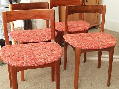 4 Nathan 1960s Vintage Teak Dining Chairs Ercol G Plan Style Mid Century
