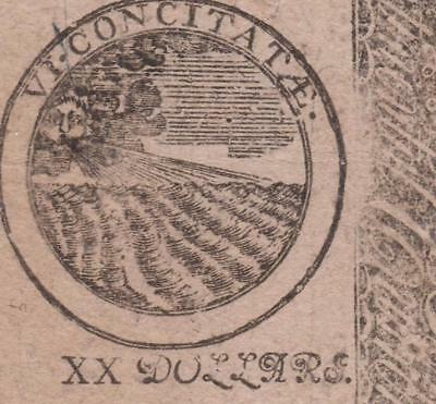 CC-76 *** YORKTOWN *** PMG XF40 $20 April 11, 1778 Continental Colonial Currency