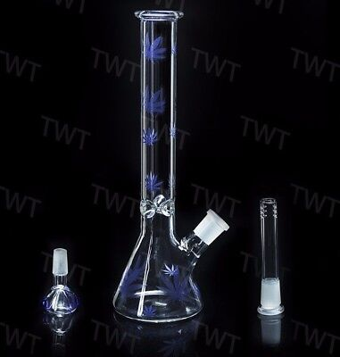 Newest 11 inches Clear Glass bong Water pipe Dab Rig with Hookah Bubble