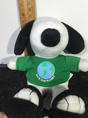Collectible Snoopy Plush Peanuts character 'SAVE OUR PLANET'  Metlife   EUC!