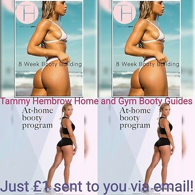 Tammy Hembrow Gym and Home Booty Guides, FREE MEAL PLAN INCLUDED!