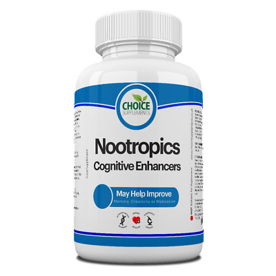 Nootropic Cognitive Enhancer Brain Vitamin Supports Memory Function & Motivation