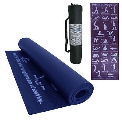 Yoga Mat Gym Exercise Position Thick Fitness Pilates Mats Non Slip Carrier
