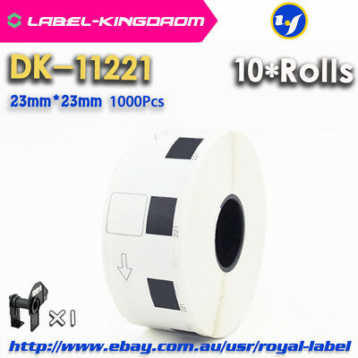 10 Rolls Brother QL-570 Compatible DK-11221 Labels 23mm*23mm Adhesive Sticker