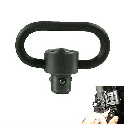 QD Rifle Sling Swivel Mount Quick Release Push Button Airgun Airsoft SchwarBGG