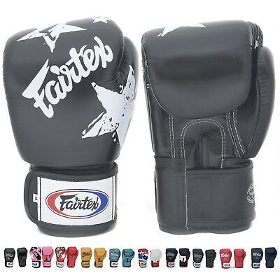 (350ml, Nation Black) - Fairtex Muay Thai Boxing Training Sparring Gloves