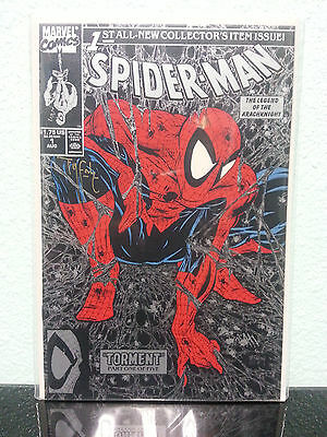 MARVEL COMICS SPIDER-MAN TORMENT #1 BLACK & SILVER Cover - MCFARLANE SIGNED!!!