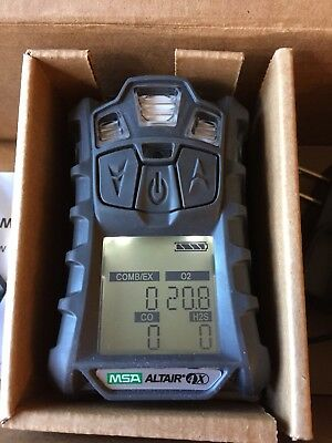MSA altair 4X multi gas meter Monitor detector O2,H2S,CO,LEL Charger calibrated