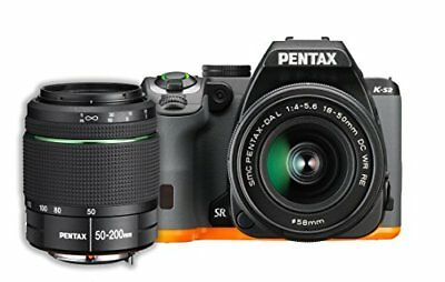 Pentax K-S2 20MP Wi-Fi Enabled Weatherized SLR with 50-200mm Lens Kit Black/O...