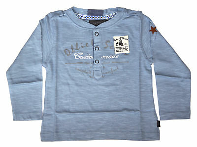 Ollie & Scott Boys Casual Blue Nugget Long Sleeve Tee EU 80 UK 12mth NEW