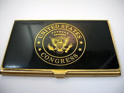 Vintage Collectible Business Card Holder: United States Congress