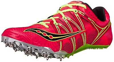 (7.5 B(M) US, Coral/Citron) - Saucony Women's Showdown Spike Shoe