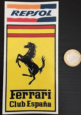 1 STICKER FERRARI CLUB ESPAGNE VINTAGE REPSOL (not Brochure)