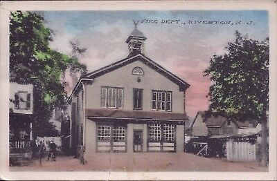 USA Riverton New Jersey Feuerwehr Station Fire Department Post Card AK (Y-8561