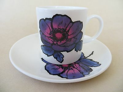 Wedgwood Blue Anemone Coffee Cup & Saucer - Susie Cooper Design