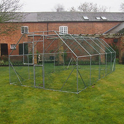 Extra Large Dog Chicken Run Exercise Pen Walk In Kennel 6x3x2m Galvanised Cage
