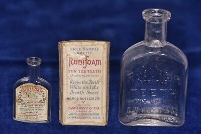Victorian - 2 Rubifoam Bottles, 1 Box,  2 Trade Cards,1 Pamphlet - Exc. Lot